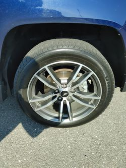stock tires still new work original mustang rims, 18 inches for Sale in Redford Charter Township,  MI