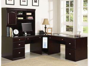 >>Brown L desk with hutch<< for Sale in Santa Clara, CA