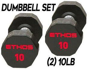 Brand New Set of 10LB Ethos Dumbbells for Sale in Arlington, VA