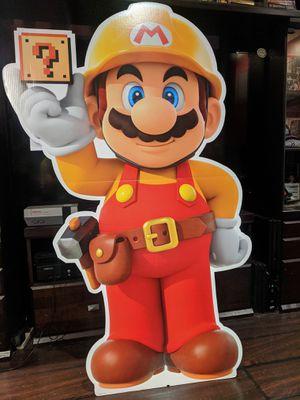 Mario Maker 2 Luigi Mansion 3 standee Gamestop for Sale in Long Beach, CA