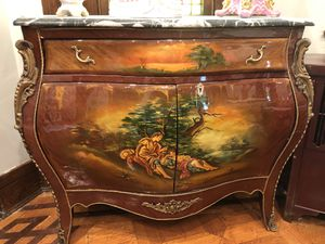 Marble top antique oil painted furniture for Sale in Baltimore, MD