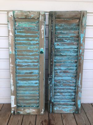 Set of antiqued window shutters for Sale in Troup, TX
