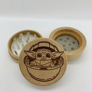Baby yoda laser engraved wood kitchen herb grinder Christmas gift kitchen pop for Sale in Los Angeles, CA