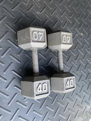 40LBS ! HEX DUMBBELLS. for Sale in Lutz, FL