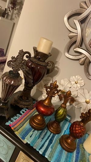 5 pc decor table decoration candle holder for Sale in Canton, MI