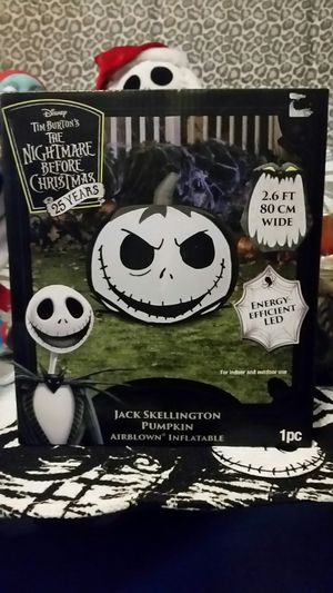The Nightmare Before Christmas Collectable Exclusive 25 Years Jack Skellington Pumpkin Airblown Inflatable. for Sale in Round Rock, TX