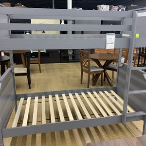 Baxton Studio Mariana Grey Twin Size Bunk Bed for Sale in Lombard, IL