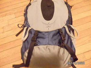 OSPREY Atmos 35 Internal Frame hiking Backpack small Black Blue Gray 35 for Sale in Chicago, IL