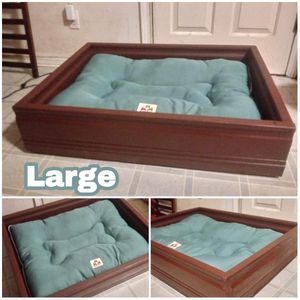 Dog bed/cat bed and house for sale made ceder wood for Sale in Springfield, OR