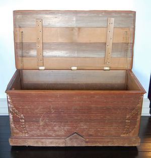 Large Vintage Rustic Wooden Trunk for Sale in Seattle, WA