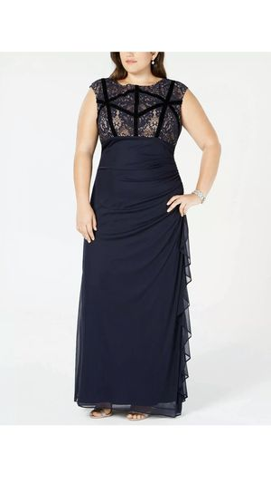 Formal Dress Size 18W in Navy NEW Evening Gown Prom / Mother of the Bride / Bridesmaid Maxi Navy Blue Gown for Sale in Oak Lawn, IL
