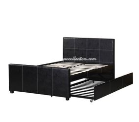 HOT SELLER, BLACK TWIN PLATFORM BED WITH TWIN TRUNDLE, SKU#7526. for Sale in Huntington Beach,  CA