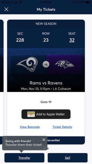 Rams vs Ravens for Sale in Anaheim, CA