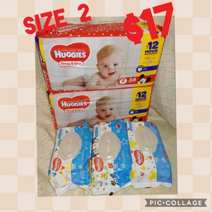 Diapers & Wipes size2 Huggies for Sale in Detroit, MI
