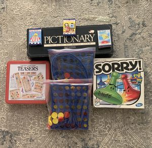 14 Kid's Games with 1st Edition Pictionary for Sale in Rancho Cucamonga, CA