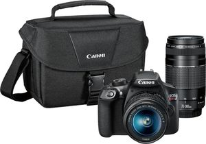 Canon - EOS Rebel T6 DSLR Camera with EF-S 18-55mm IS II and EF 75-300mm III lens - Black for Sale in Addison, IL