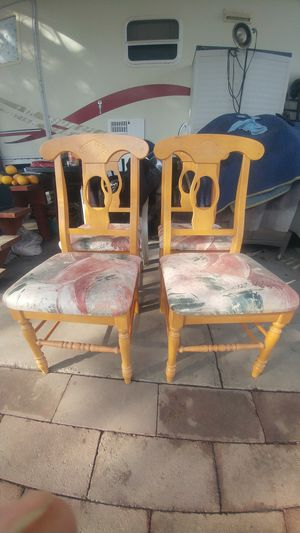Hardwood chairs for Sale in Fresno, CA