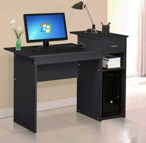 Home Office Corner Dësk Wood Top PC Laptop Table WorkStation Furniture black for Sale in Las Vegas, NV