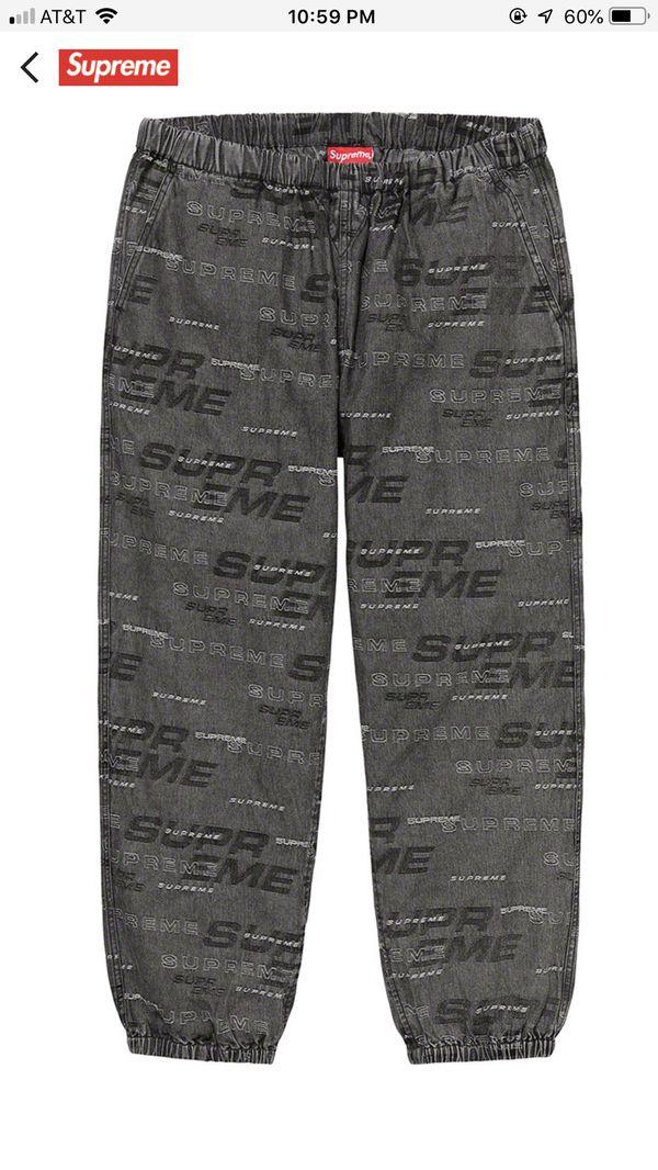Supreme Dimensions Logo Denim Skate Pant XL Black