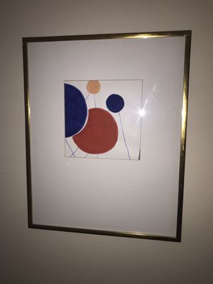 Large Gold Framed Modern Abstract Art Piece for Sale in Los Angeles, CA