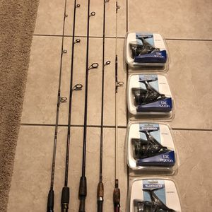 5 trout and panfish spinning rods & reels for Sale in Sun City, AZ