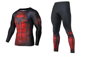 2020 SPIDER-MAN Men's Set Tracksuit 3D Print Sportwear Suits Running Basketball Bodybuilding Sweatsuit Compression shirt Fitness GYM Workout running for Sale in Fontana, CA