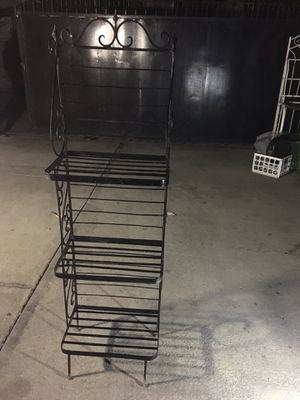 Solid metal baker rack for Sale in Los Angeles, CA