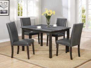 Gray Dining Table Set for Sale in San Bernardino, CA