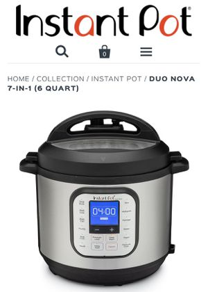 Instant pot nova 7-1 6qt for Sale in West Palm Beach, FL