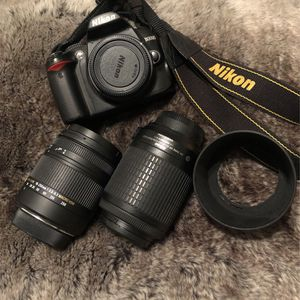 Nikon D3000 with Sigma/Nikon Lenses with Box for Sale in Franklin, TN