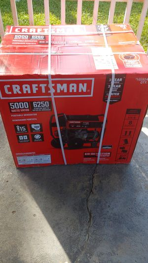 Craftsman portable generator 5000 watts for Sale in Tampa, FL