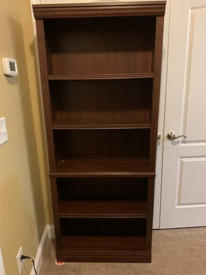 Faux wood book shelf for Sale in Fuquay-Varina, NC