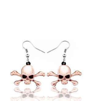 Gothic Punk Skull and Crossbones Dangling Earrings for Sale in Riverside, CA