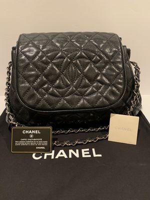 RARE Chanel Quilted Glazed Caviar CC medium shoulder bag AUTHENTIC for Sale in La Jolla, CA