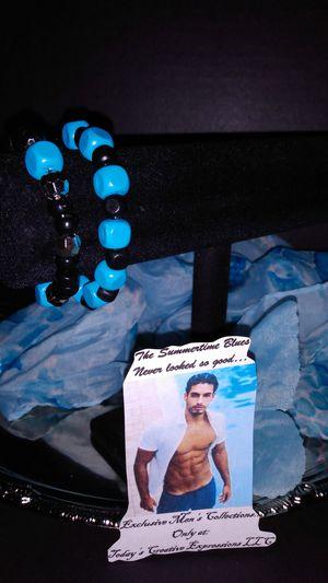 The Men's Double Blue Stack Bracelet Set! for Sale in Baton Rouge, LA