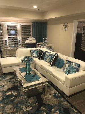 Sectional white couch for Sale in Duluth, GA