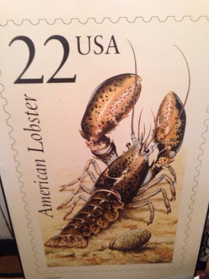 American Lobster 22 cent Stamp Poster for Sale in Alexandria, VA