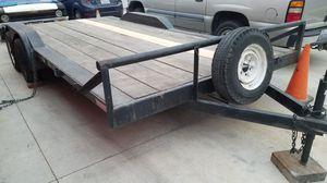 Trailer utility flatbed car hauler 8 x 18 foot dove tail 4000 OBO for Sale in Stanton, CA