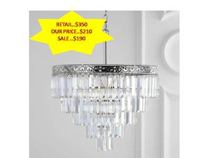 Wyatt 20 in. 4-Light Polished Nickel/Clear Crystal Chandelier by JONATHAN Y NEW for Sale in Davie, FL