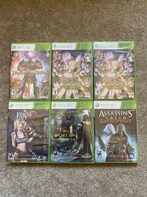 6 brand new unopened Xbox 360 games lot for Sale in Modesto, CA