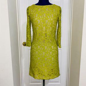 Nine West Yellow Green Mod Dress for Sale in Jersey City, NJ