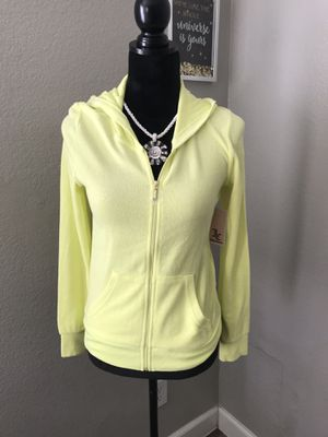 Juicy Couture Women's Sweatshirt Hooded Zipper Yellow Size Small for Sale in Las Vegas, NV