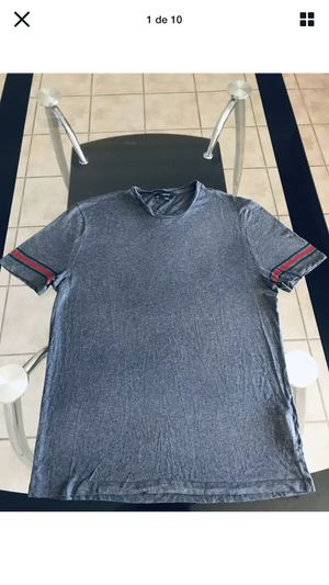 Gucci Mens Shirt Red Green Stripes Size 3XL Runs Small Gray Made In Italy for Sale in Cincinnati, OH