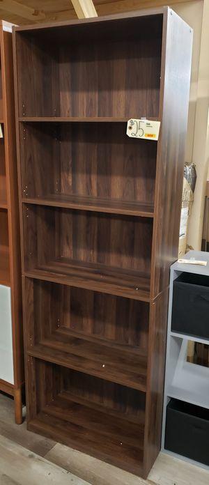 NEW Adjustable 5 Shelf Bookcase: Canyon Walnut Finish for Sale in Burlington, NJ