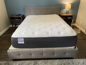 Queen Mattress and Bed Frame (with bunkie board) for Sale in Baltimore, MD