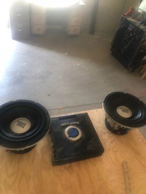 """2 10"""" JBL Subwoofers, 1500 watt amp, for Sale in Payson, AZ"""