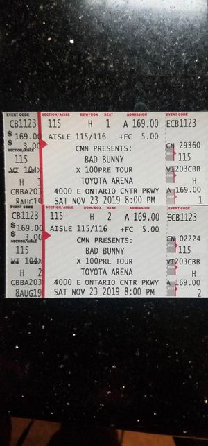 Bad bunny concert for Sale in Irwindale, CA