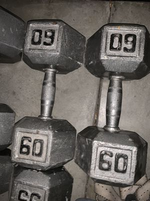 60lb dumbbells for Sale in Simi Valley, CA