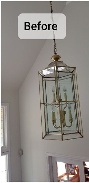 Glass Chandelier for Entry way for Sale in Puyallup, WA