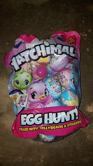 Hatchimals egg hunt candy and stickers for Sale in Santa Ana, CA